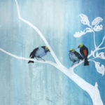 Oil on Canvas Nature Art - Paradise Tanagers